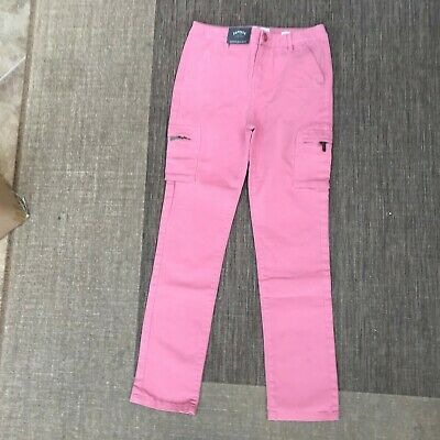 Brand New Girls Fat Face Pink Chino Trousers Age 12 13 Kids Bnwt Teen Casual