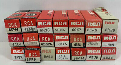 Vintage RCA Electronic Tubes Lot Of 21 (ET1)