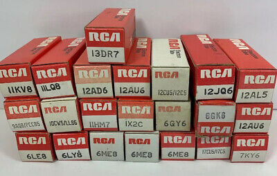 Vintage RCA Electronic Tubes Lot Of 22 (ET2)