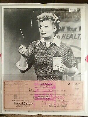 Lucille Ball 1959 Original Photo Signed Check