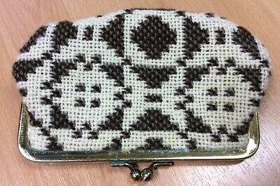 1970s Welsh Wool Tapestry Coin Purse