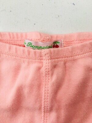 BNWoT Bonpoint Baby Girl's Carnation Pink Cotton Leggings Age 12 Months