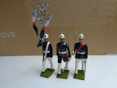 Potsdamer Zinnsoldaten Joe Shimek Africa French standard bearer lot of 3, ch