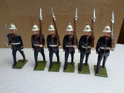 Potsdamer Zinnsoldaten Joe Shimek British Royal Marines, soldiers lot of 6, ch