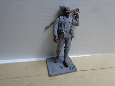 Metal Models, ww2 African Sudanese unpainted lead soldier 54mm, ny