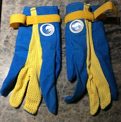 Vintage Connelly Water Ski Gloves Pair Blue/ Yellow  Size Small (women's medium)