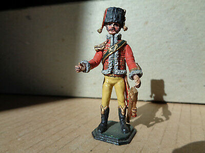 Hinchcliffe, Miniatures Napoleonic French cavalry soldier painted lead 54mm, v9