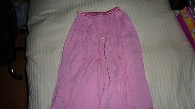 Monsoon Sparkly Sequin Pink Long Party Cotton Crinkle Skirt Age 6-8 Elasticated