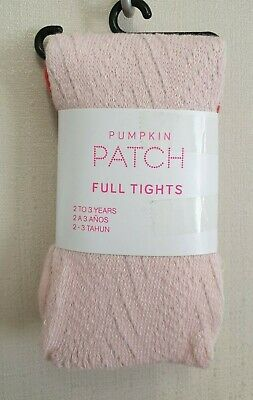 BNWT Pumpkin Patch Brand Girls 2 to 3 Yrs Winter Knit Pink Footed Style Tights
