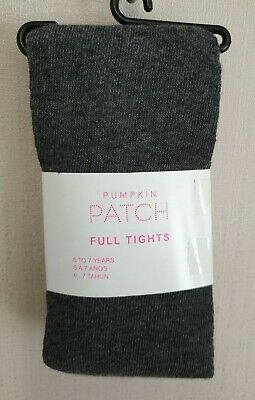 BNWT Pumpkin Patch Brand Girls 6 to 7 Yrs Full Grey Footed Style Tights