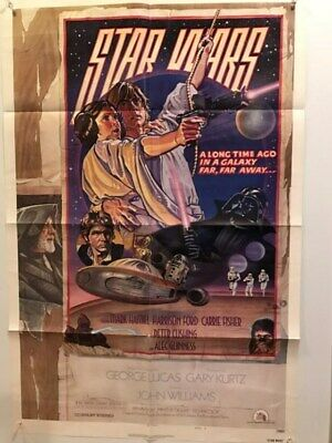 Star Wars Original One Sheet Style D Folded NSS 770021 Ex Cond RARE!