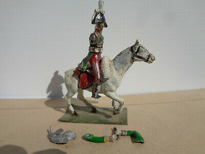 Stadden Almirall, Napoleonic French officer horse cavalry painted lead 54mm