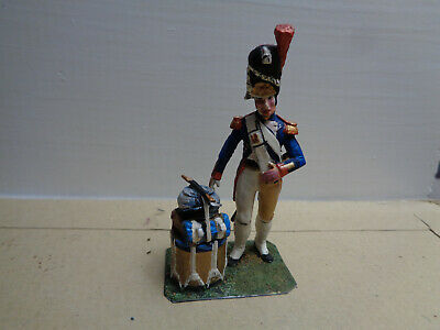 Stadden, Napoleonic French Grenadier Guard drummer painted lead 54mm, JL