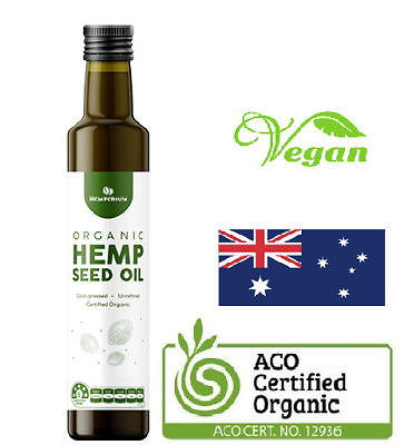 Hemp Seed Oil Certified Organic Cold Pressed Body Massage Oil - 1Litre