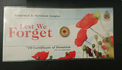 2012 $2 Dollar Coin - *Red Poppy* - *Remembrance* - *Rsl Carded* - Uncirculated