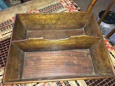 Moprimitivepast antique AAFA primitive wooden box tote centerpiece cabin farm