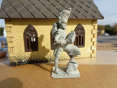 Stadden, French Guard music Napoleonic accordion unpainted lead 54mm soldier, JL