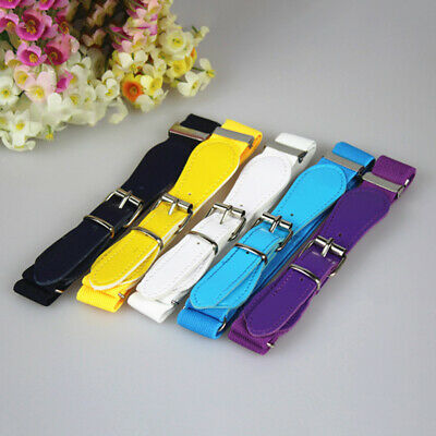Toddler Candy Color Waist Belts Buckle PU Leather Kids Girls Boys Waistbands