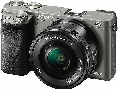 Sony Alpha a6000 Mirrorless Digital Camera with 16-50 mm Lens 24.3MP (Gray)
