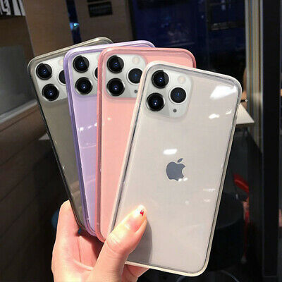 For iPhone 11 Pro Max XS XR 8 7 Plus Shockproof Transparent Silicone Case Cover