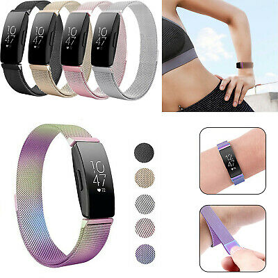 For Fitbit Inspire / HR Stainless Steel Metal Milanese Watch Band Magnetic Strap