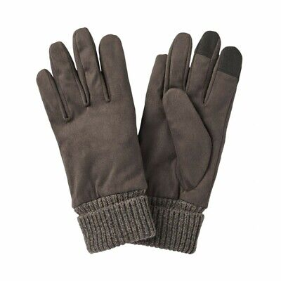 MUJI Water-repellent Brushed Windbreak Touch panel Gloves 21cm Brown MoMA