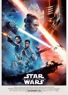 """Star Wars The Rise Of Skywalker 27""""X 40"""" Double Sided Theater Poster NEW MINT"""