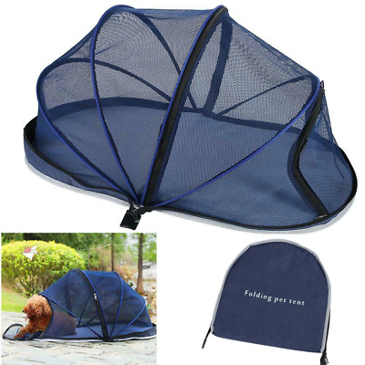 Portable Pet Dome Tent Dog Cat Camping Mesh Net Shelte Hood with zipper New