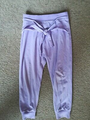 Girls purple,lilac trousers,Next age 4,tie detail at waist,,soft,comfy