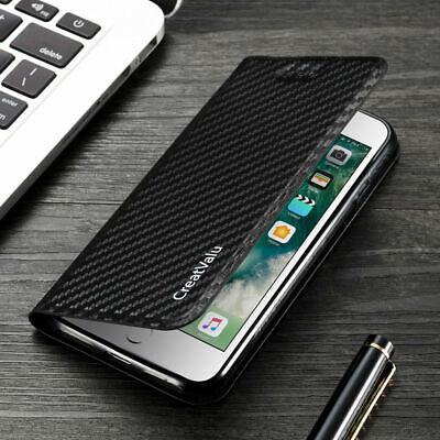 Magnetic Carbon Leather Flip Wallet Phone Case Cover for Samsung Galaxy A10 a20e