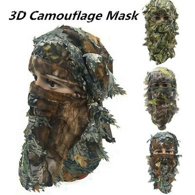 1PC Camouflage 3D Mask Face Hood Headgear for Outdoor Hunting Military Sniper