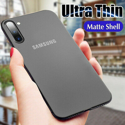 Ultra Thin Case For Samsung Note 10 Plus S10 S9 0.3mm Slim Matte Hard Back Cover