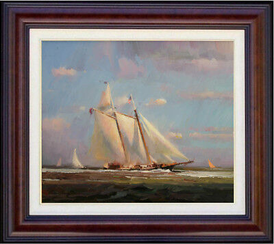 """Hand-painted Original Oil painting art Impressionism sailboat on Canvas  20""""x24"""""""