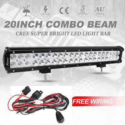 210w 20inch Cree LED Light Bar Flood Spot Combo Offroad Driving 4WD Lamp 4x4 4WD