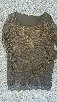 Maternity top Blooming Marvellous Black Lace Top Size 16
