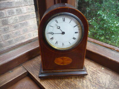 wooden  cased  clock FOR  SPARES  /  REPAIRS  8  inch  high