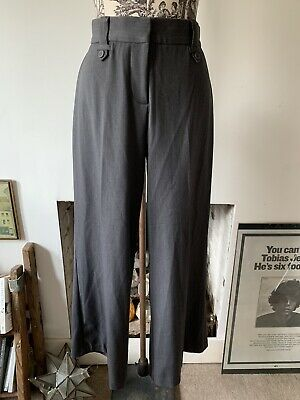 Vintage Soft Grey High Waisted Wide Leg Trousers 12
