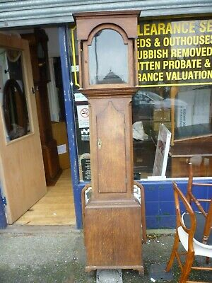 Good Antique Longcase Grandfather Clock Case For 17ins By 12ins Dial