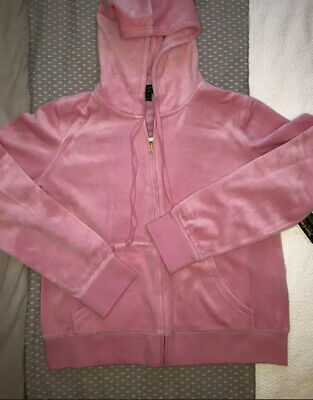 Juicy Couture Pink Velour Tracksuit Set XL New 14-16