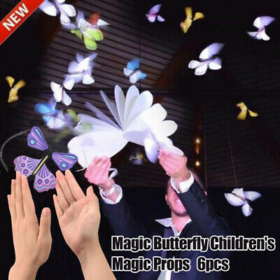 6pcs Flying Butterfly Wind Up Magic Toy Trick Prop Funny Kids Gift
