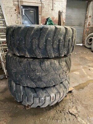 3x Loading Shovel Tyres 20.5R25 Used