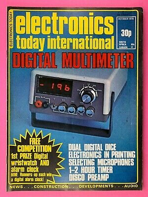 ELECTRONICS TODAY INTERNATIONAL Magazine - Oct 1976 - Digital Multimeter