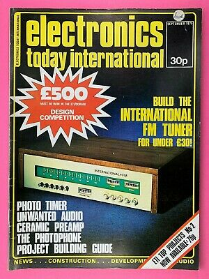 ELECTRONICS TODAY International Magazine - Sept 1975 - International FM Tuner