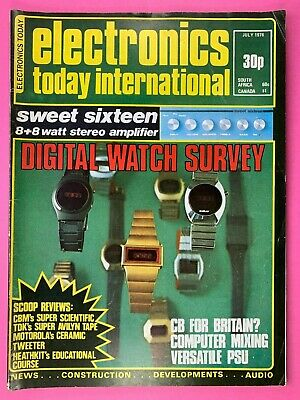 ELECTRONICS TODAY INTERNATIONAL Magazine - July 1976 - Sweet 16 Amplifier
