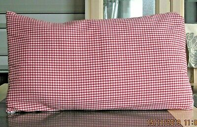 Shabby Chic Red And White Gingham Design Rectangle Cushion Covers