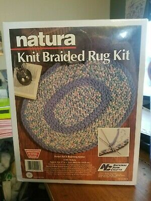 Natura Knit Braided Rug Kit Nation Yarn Crafts New Sealed