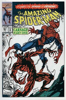 Amazing Spider-Man 361 Marvel 1992 NM+ 9.6 1st Carnage Venom