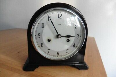 CIRCA 1940s SMITHS ENFIELD BAKELITE 8 DAY MANTEL CLOCK WITH GONG STRIKE