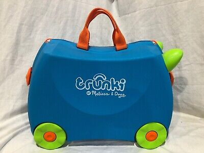 Trunki Original Kids Ride-On Suitcase and Carry-On Luggage Blue and Green