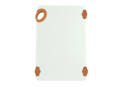 Winco CBN-1218BN, 12x18x0.5-Inch Cutting Board with Hook, Brown, NSF,
